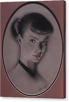 Jodie Kidd Canvas Print by Nanybel Salazar