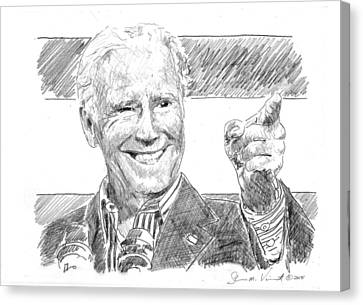 Joe Biden Canvas Print by Shawn Vincelette