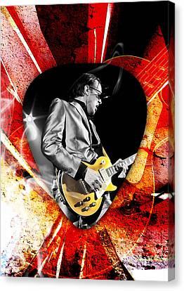 Joe Bonamassa Blue Guitar Art Canvas Print by Marvin Blaine