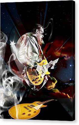 Joe Bonamassa Blue Guitarist Canvas Print by Marvin Blaine