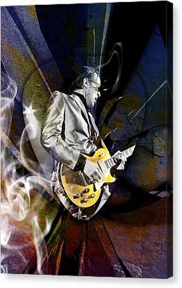 Joe Bonamassa Blues Guitarist Canvas Print by Marvin Blaine