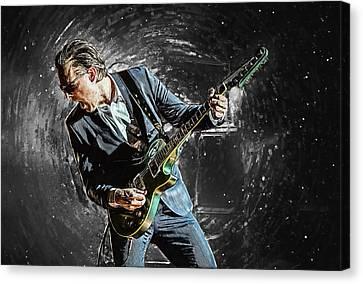 Canvas Print featuring the digital art Joe Bonamassa by Taylan Apukovska