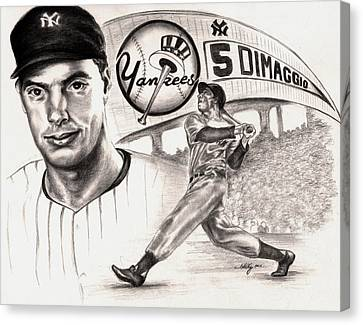 Joe Dimaggio Canvas Print by Kathleen Kelly Thompson