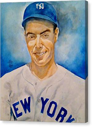 Centerfield Canvas Print - Joe Dimaggio by Nigel Wynter