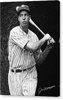 Joe Dimaggio Canvas Print by Taylan Apukovska