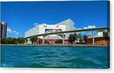 Gordie Howe Canvas Print - Joe Lewis Arena by Michael Rucker