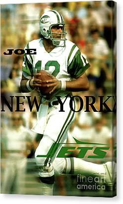 Joe Namath, Broadway Joe, New York Jets Canvas Print
