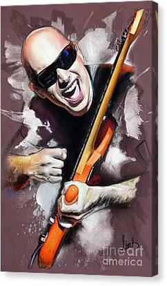 Joe Satriani Canvas Print by Melanie D