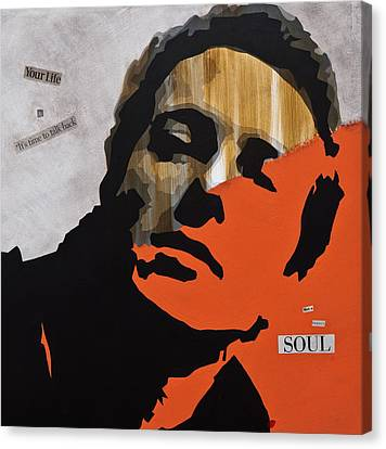 Joe Strummer Feeling Lucky Punk Canvas Print by Brad Jensen