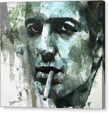 Joe Strummer - Retro  Canvas Print by Paul Lovering