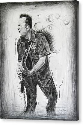 Joe Strummer's Dream Canvas Print by Michael Morgan