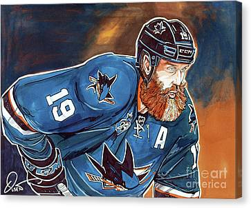 Joe Thornton Canvas Print by Dave Olsen