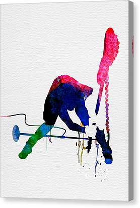 Joe Watercolor Canvas Print by Naxart Studio