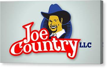 Joecountry Logo_llc Kitchen Canvas Print by Joe Greenidge