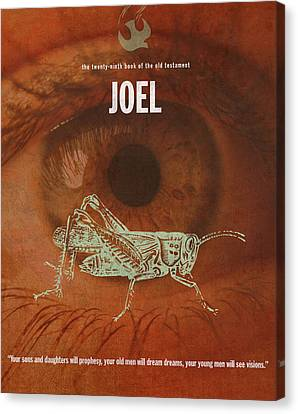 Joel Books Of The Bible Series Old Testament Minimal Poster Art Number 29 Canvas Print