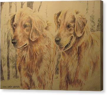 Joe's Dogs Canvas Print