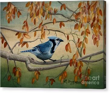 Bluejay Canvas Print - Joe's Jay by Lora Duguay
