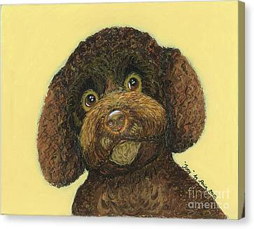 Canvas Print featuring the pastel Joey Poodle Mix by Ania M Milo