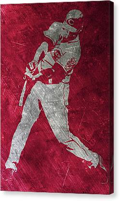 Baseball Fields Canvas Print - Joey Votto Cincinnati Reds Art by Joe Hamilton