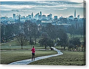 Jogger Canvas Print by Adam Butler