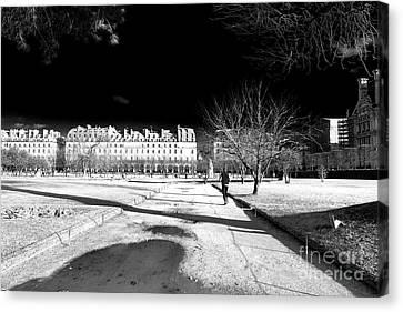 Jogging Canvas Print - Jogging In Paris by John Rizzuto
