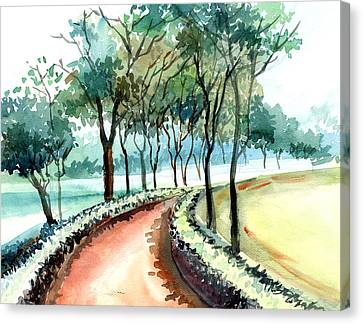 Jogging Track Canvas Print by Anil Nene