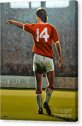 Johan Cruyff Oranje Nr 14 Canvas Print by Paul Meijering