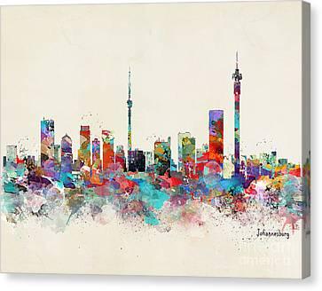 Johannesburg South Africa Skyline Canvas Print