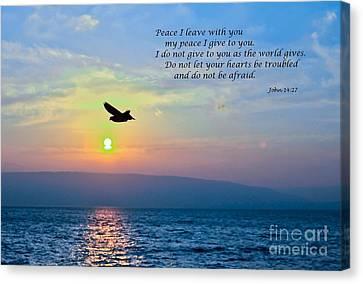 John 14  27 Canvas Print