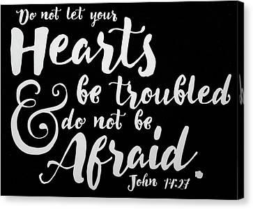 3.14 Canvas Print - John 14 27 Scripture Verses Bible Art by Reid Callaway