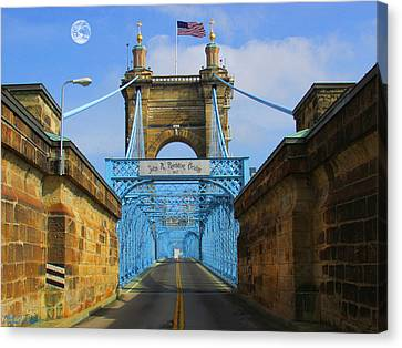 John A. Roebling Suspension Bridge Canvas Print