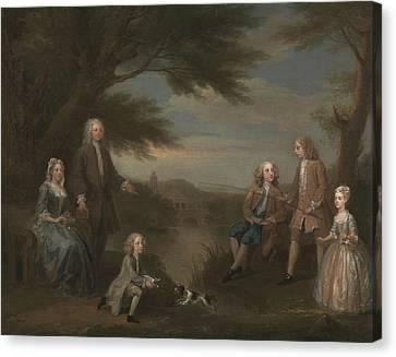 Hogarth Canvas Print - John And Elizabeth Jeffreys And Their Children by William Hogarth