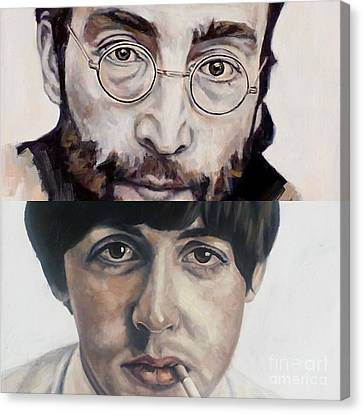 Canvas Print featuring the painting John And Paul by Rebecca Glaze