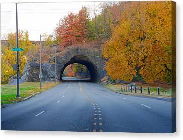John B Kelly Drive In Autumn Canvas Print by Bill Cannon