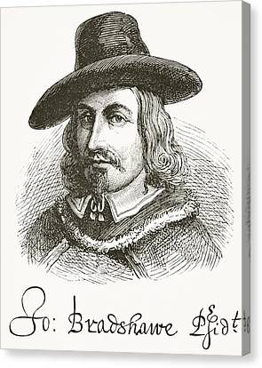 John Bradshaw 1602 To 1659. Judge At Canvas Print by Vintage Design Pics