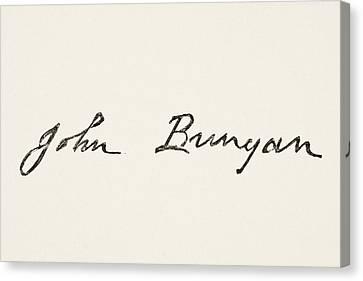 John Bunyan 1628 To 1688. English Canvas Print by Vintage Design Pics