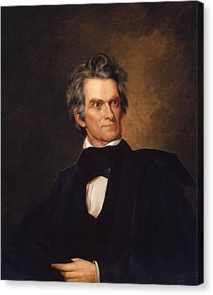 John C. Calhoun Canvas Print by George Peter Alexander Healy