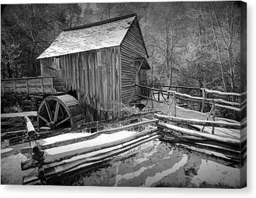 John Cable Gristmill In Cade's Cove The Great Smokey Mountains Canvas Print by Randall Nyhof
