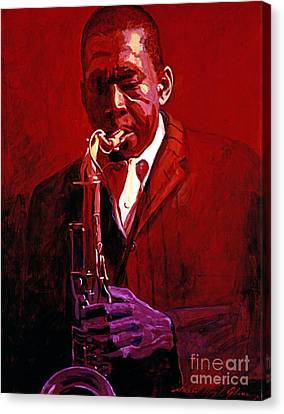 John Coltrane Canvas Print by David Lloyd Glover