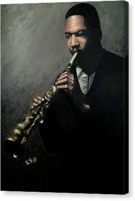 Jazz Man Coltrane Canvas Print