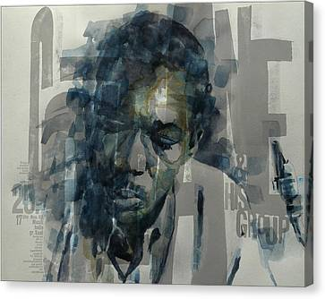 John Coltrane  Canvas Print by Paul Lovering