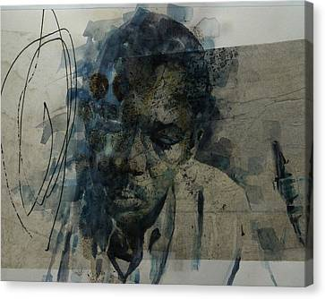 John Coltrane / Retro Canvas Print by Paul Lovering