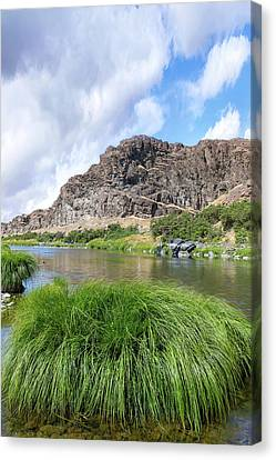 Canvas Print - John Day River Landscape In Summer Portrait by David Gn
