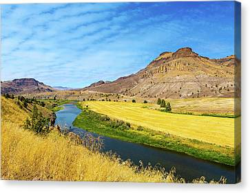 Canvas Print - John Day River Panoramic View by David Gn