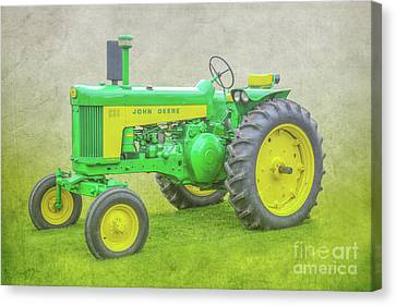 John Deere Farm Tractor Canvas Print by Randy Steele