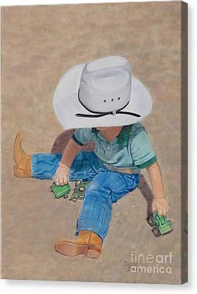 John Deere Junior Canvas Print by Danielle Smith
