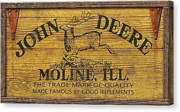 John Deere Sign Canvas Print