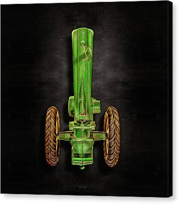 Canvas Print featuring the photograph John Deere Top On Black by YoPedro