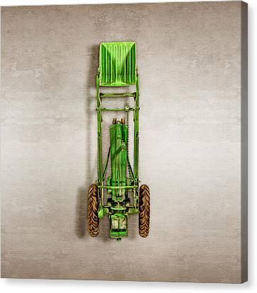 Loader Canvas Print - John Deere Tractor Loader by YoPedro