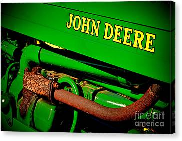 John Deere Tractor Mystery Canvas Print by Olivier Le Queinec